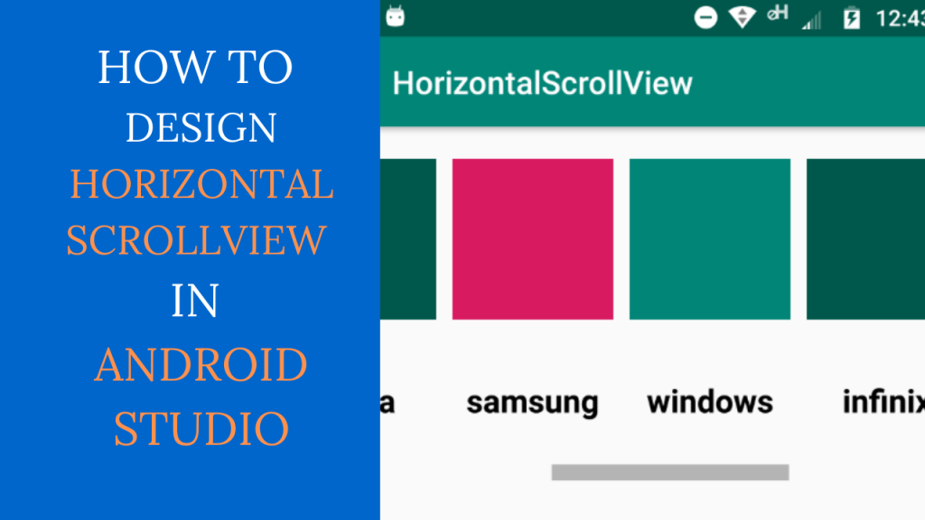 Android Horizontal ScrollView Example