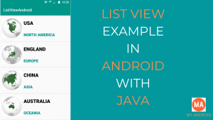 Android ListView Example in Java