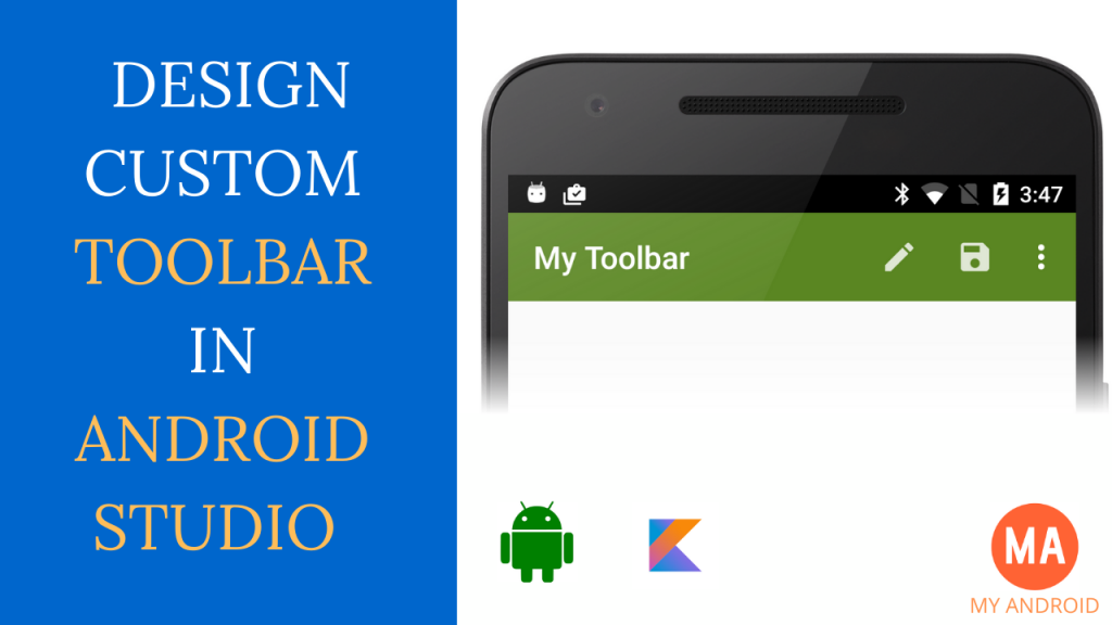 Android Custom Toolbar In Kotlin