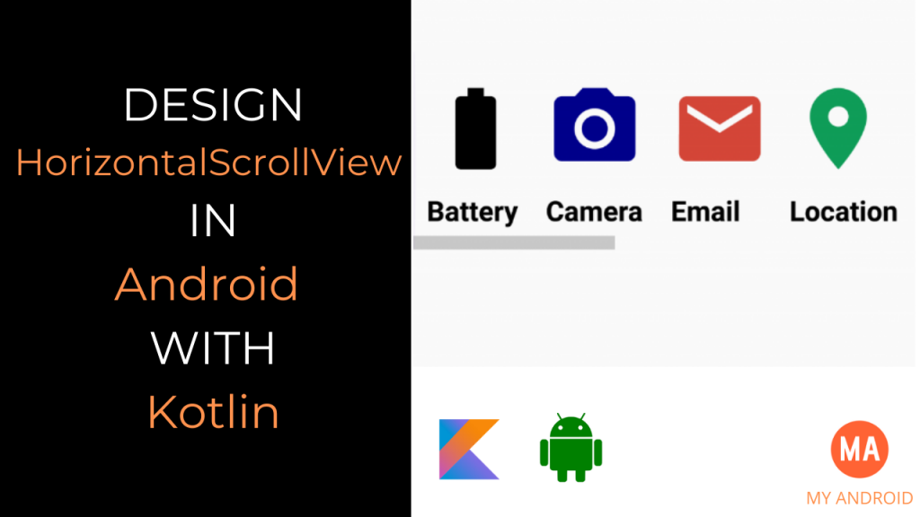 HorizontalScrollview Android Kotlin