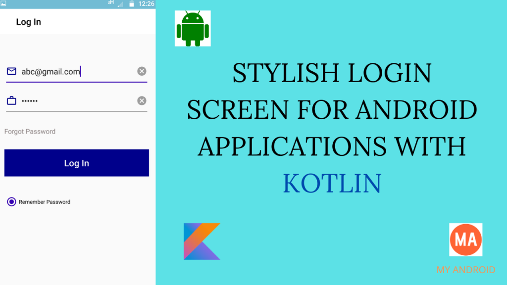 How To Make Login Screen In Kotlin
