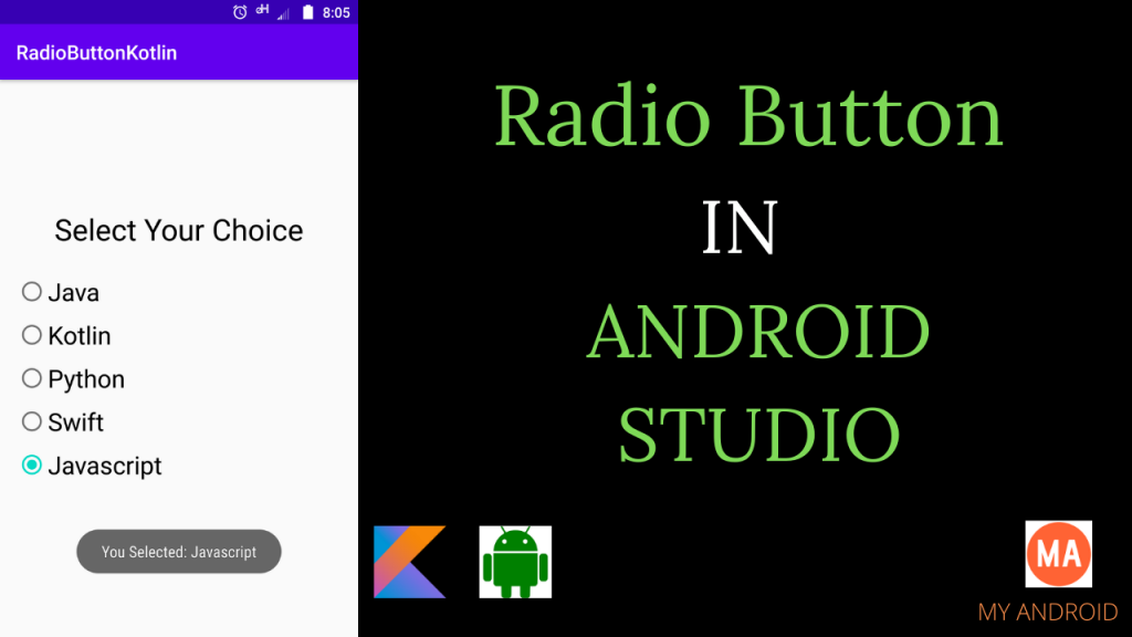 Radio Button Android Kotlin